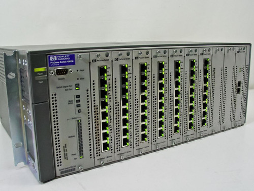 HP ProCurve Switch 4000m 10/100/1000 with (7) J4111A & (1) J4113A Modules