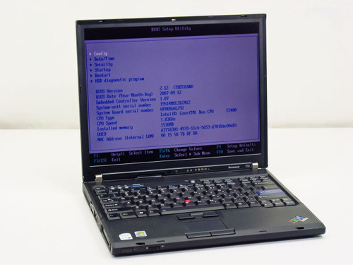 Lenovo T60  Intel Core Duo 1.83GHz, 1.0 GB RAM, 60GB HDD, NO AC adapter