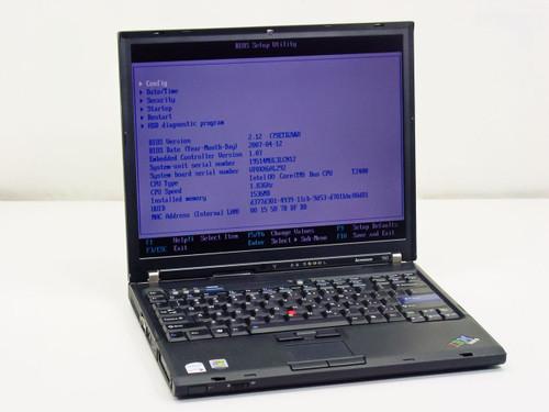Lenovo T60  Intel Core Duo 1.83GHz, 1.0 GB RAM, 60GB HDD_NO AC adapter