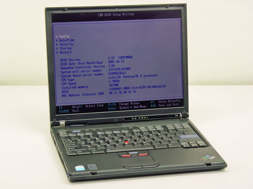 IBM T42 1.7GHz Pentium M, 1.0GB Ram, 40GB HDD (2373JTU)