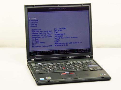 IBM T41 Intel Pentium M 1.6GHz, 512MB RAM, 40GB HDD