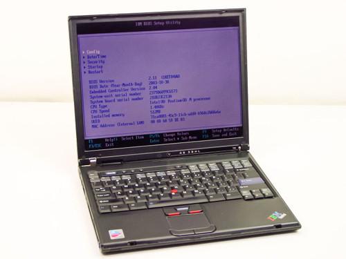 IBM T40 Intel Pentium M 1.4GHz, 512MB RAM, 60GB HDD