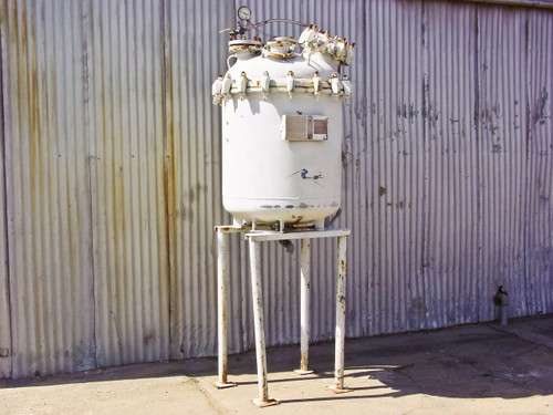 Pfaudler Glass Lined Chemical Mixing Reactor Vessel R289-0408 Tank (100GAL)