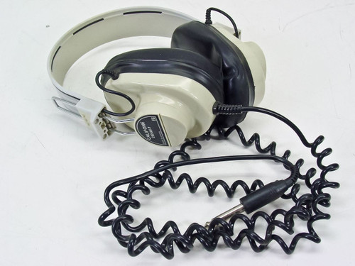 "Califone Deluxe Mono Headphones / Headset 1/8"" Jack with Curly Cable (2924AV-P)"