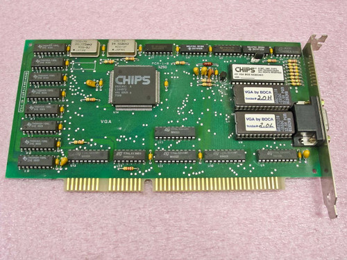 Chips ISA 15 Pin Video Card  F82C451
