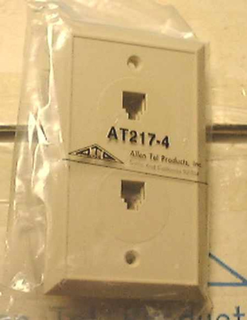 Allen Tel Prod. Dual Telephone Wall Jack (AT217-4)