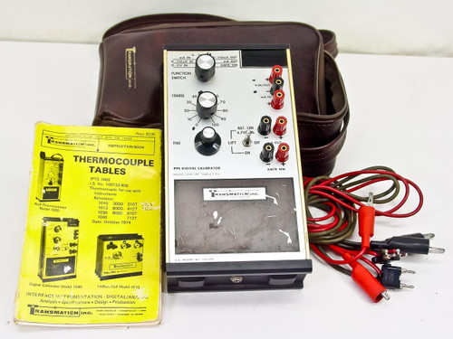 Transmation Inc. Model 1040 PPS Digital Thermocouple Calibrator with Instruction Book