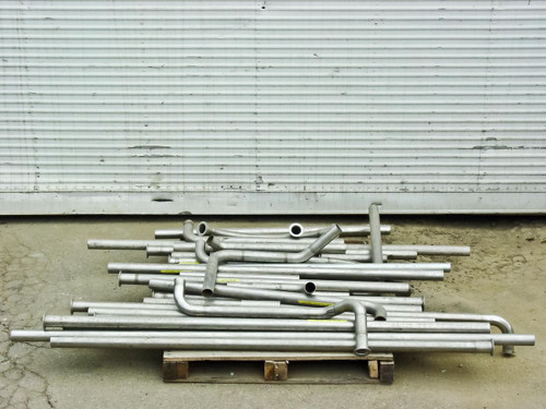 """Stainless Steel Tubing with Flanges Large lot of 135 Feet (1 13/16"""")"""
