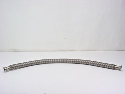 "QF Stainless Steel Vacuum Pump Flex Hose 3 Feet (1 9/16"")"