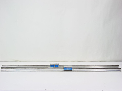 "Thomson Industries Inc SPB 10 OPN (4) Super Open Pillow Block W/ Rails 48"" long"