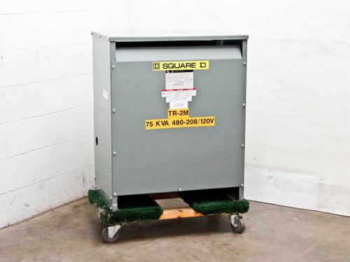 Square D 75 KVA 3Ph 480 Volts Delta to 208 120 Transformer (75T3H)