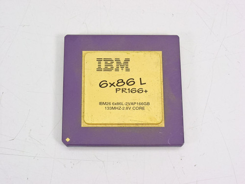 IBM IBM26 6x86-2V2P166GE 133 MHZ-3.3V 1995 Gold Top (6x86 P166 Plus)