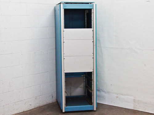 Large Blue 36U 19 Inch Rolling Rackmount Cabinet with Lock and Wheels