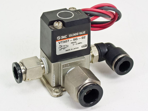 SMC 3 Port 24 Volt Direct Operated Solenoid Valve (VT307-5G-02 NU)