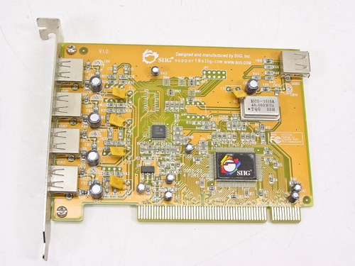 SIIG PCI 4 Port 4 External 1 Internal USB Card U002-62 US2216 (JU-CP4112)