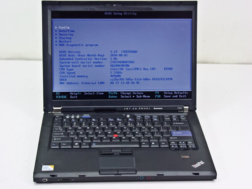 Lenovo T400 Intel Core 2 Duo 2.53GHz, 4GB RAM, 320GB HDD, NO AC adapter