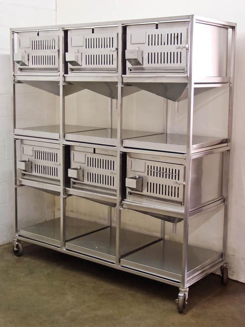 Lab Products Inc Modular Cage Unit - 6 cages Stainless Steel