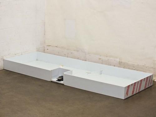 "Compression Polymers Drip tray w/ foot pedal 82"" x 51"" x 12"""