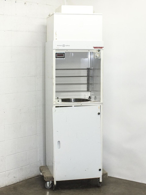 Toolex Alpha Disc Coater Spinner with Vertical Hepa Laminar Flow Hood (PSC)