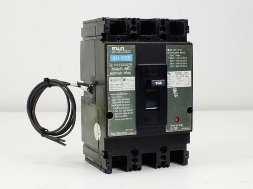 Fuji Electric 70A 600 Volt AC 3 Pole Circuit Breaker (BU-ESB3070)