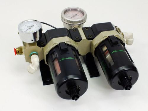CKD Oil Mist Filter Kit D300 F4000 w Pressure Gauges (M4000)