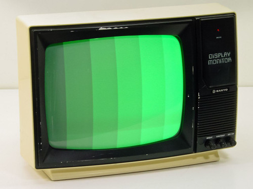 "Sanyo DM-2112 13"" Green Screen CRT Display - RCA Input"