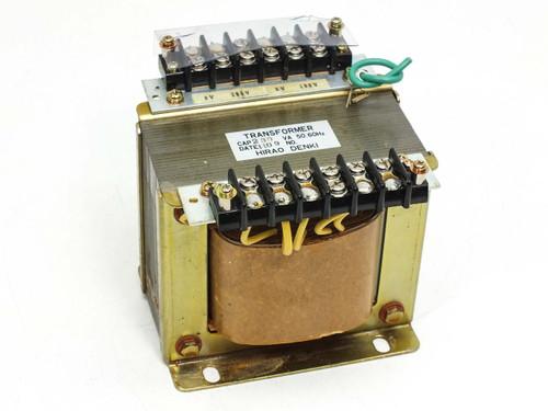 Hirao Denki Co  230 VA Transformer 12 18 100 200 Volt Taps 230VA