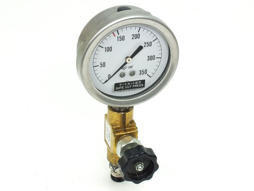 NKS Pressure Gauge w/ ASK SAN-400 Regulator Valve 350