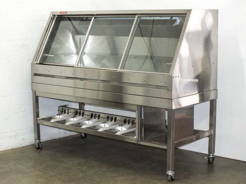 Cleanroom Stainless Steel Bench with Sliding Glass Enclosure (Cabinet)