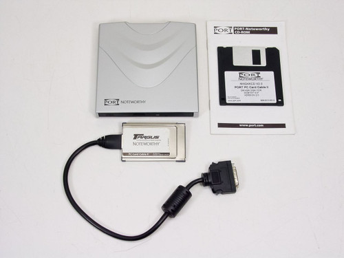 Port Port Portable 24X CD-ROM - w/ PC Card Dongle (NW24XCD)