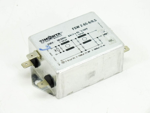 Timonta Suppression Filter 250VOLT 6AMP (FSW 2-65-6/0.5)