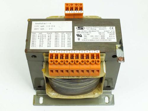 J. Schneider Transformer EN61558-2-2 200-550 V to 115-230 V (EUED 1.3B-980407T9)