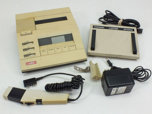 Lanier Cassette Transcriber with Foot Pedal & Hand-Held Controller (P-140)