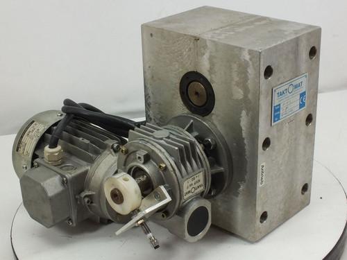 Taktomat Parallel Shaft Indexing Drive w/ Sigl GmbH Motor (IP 80 E)