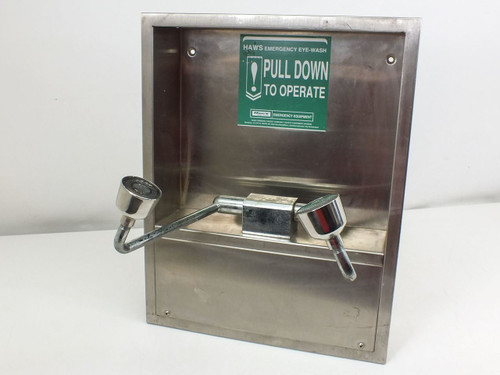 Haws Recessed Stainless Steel Emergency Eye Wash Station