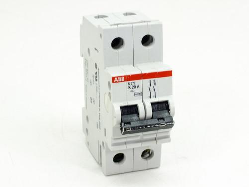ABB S272-K20A Circuit Breaker 20AMP 2POLE 277/480VAC
