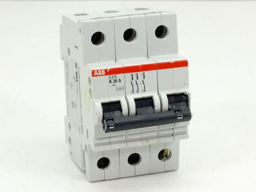 ABB S273-K20A Circuit Breaker 20AMP 3POLE 277/480VAC