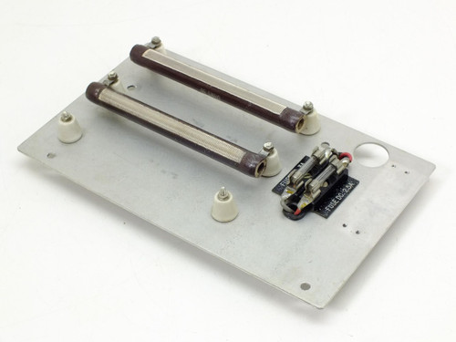 Ohmite 50 Ohms 75 Watt Resistor - 1 pair mounted on metal plate 0773