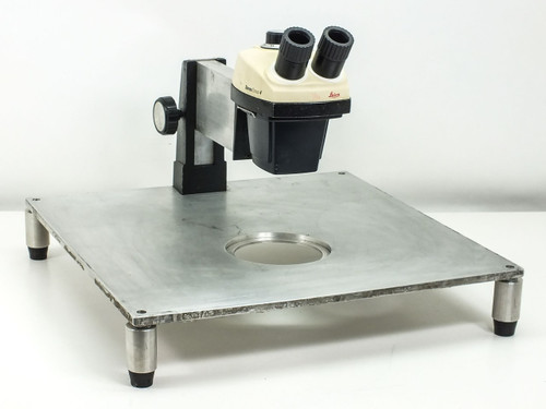 Leica Binocular Microscope Head with Focus Block and Stand (StereoZoom 4)