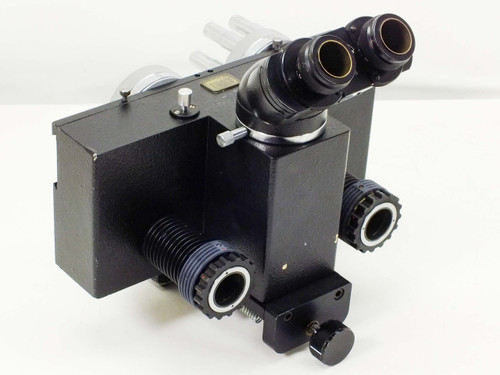 Carl Zeiss Microscope with Dial Sliding Turrets 5x, 10x, and 20x Objectives