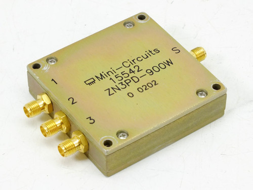 Mini-Circuits Coaxial Power Splitter / Combiner 3 Way 650-1050 MHz 15542