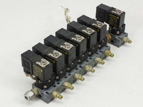 Asco Joucomatic 430 04419 Actuator Coils 2.5W 110V IP65 - Lot of 7 with Manifold