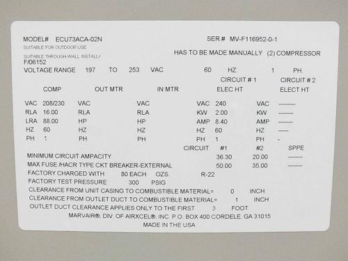marvair wiring diagram ipod usb wiring diagram marvair ecu73aca-02n 6 ton air conditioner hvac system ...
