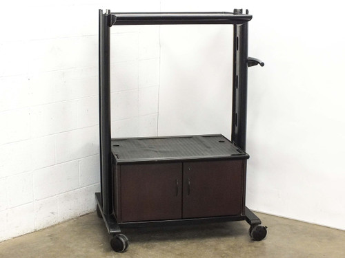 """AV with 2 Shelves and Cabinet 30.5"""" x 21"""" Surfaces (Cart)"""