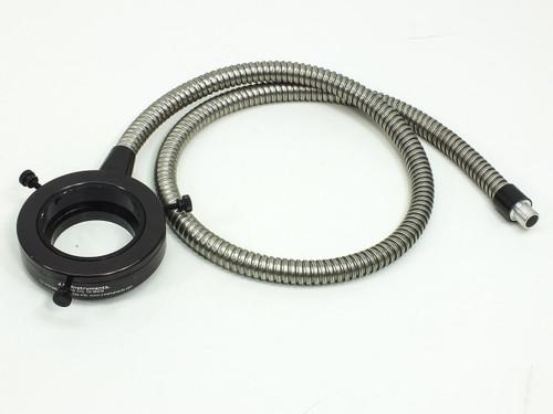 "Fiber-Optic Microscope Light Source Flex Cable Ring Mount 41"" Long Black"