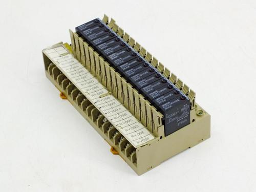 Omron P7TF-OS16 I/O Block Base with 16 G3TA-ODX02S 24VDC Relays