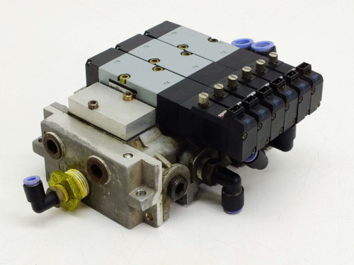 Kuroda Manifold with 3 2430 2-Position Double Solenoid Valves