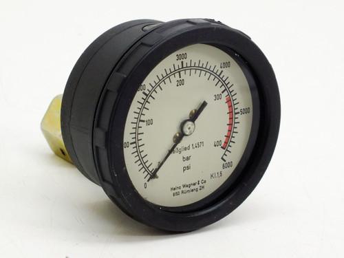 Heinz Wagner Pressure Gauge (400 bar) (6000 PSI)