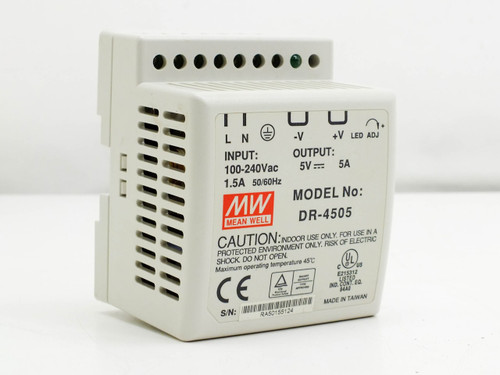 Mean Well 45W Single Output Industrial DIN Rail Power Supply (DR-4505)