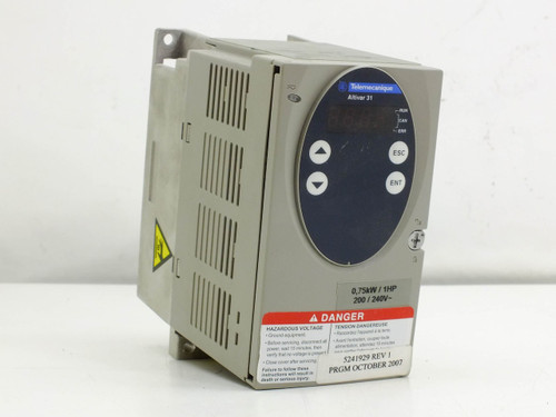 Telemecanique ATV31H075M3X Altivar 31 Adjustable Speed AC Drive 0.75kW 1HP